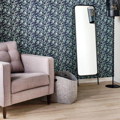Miroir sur pied en métal - noir H140,5cm-BOLERO
