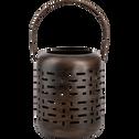 Lanterne en métal marron H25xD20cm-Manne