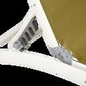 Bain de soleil en aluminium et textilène vert olivier-LECCO