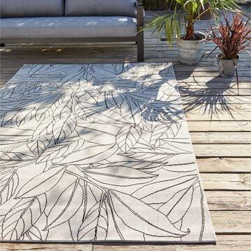 Tapis imprimé motif Laurier - blanc 160x230cm-LAURIER