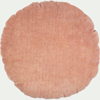 Coussin velours 35x35 cm - jaune-Rondo