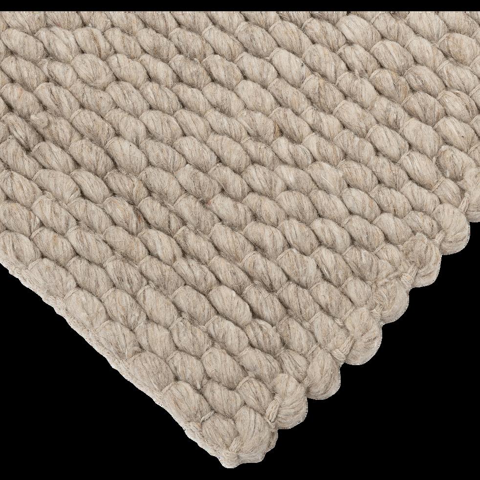Tapis tissé gris clair 120x170cm-MAUSSANE