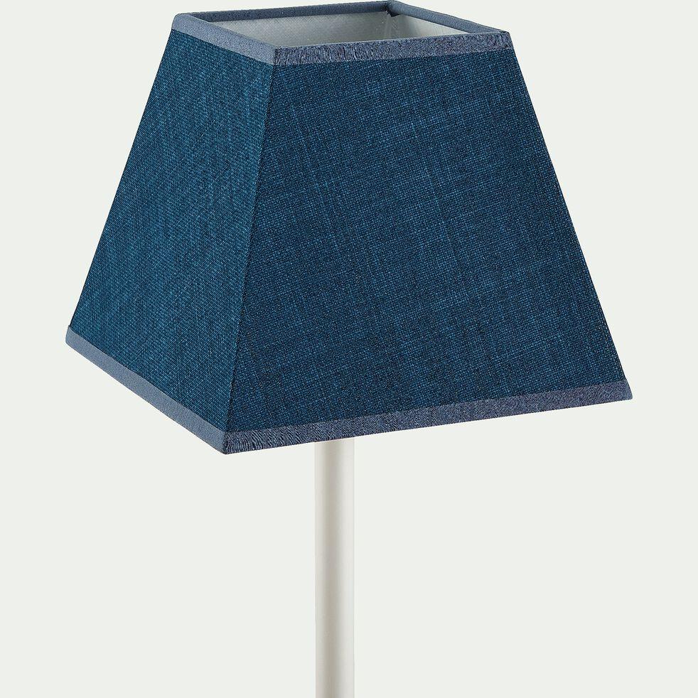 Abat-jour carré en coton - bleu figuerolles-MISTRAL