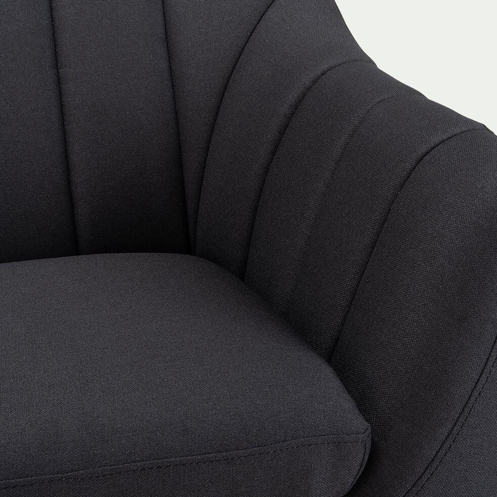 Canapé 2 places fixe en tissu - gris anthracite-SHELL