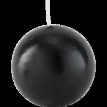 Bougie boule gris calabrun-HALBA