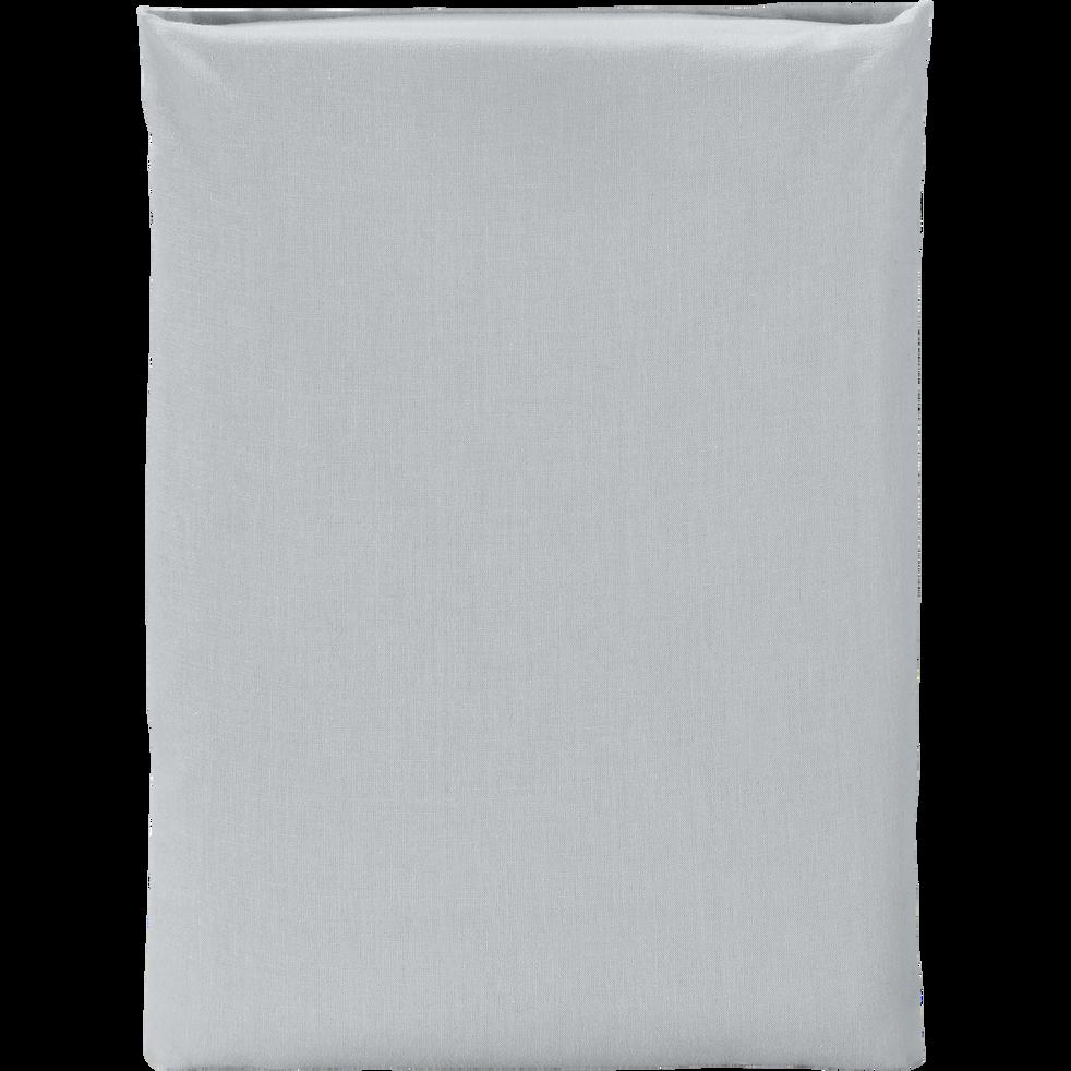 Drap plat en coton Gris borie 270x300cm-CALANQUES