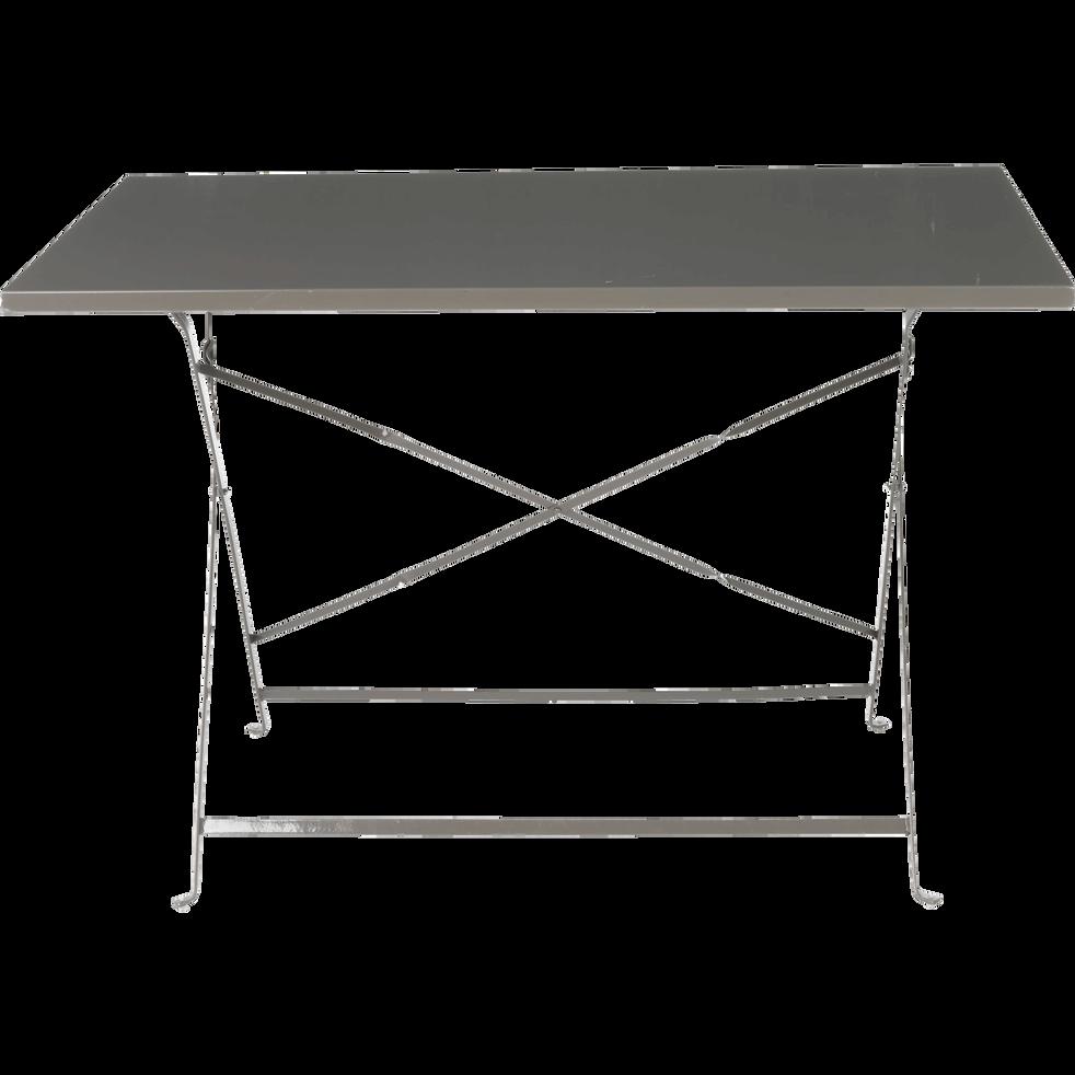 Table de jardin pliante taupe L110cm (2 à 4 places) - CERVIONE ...