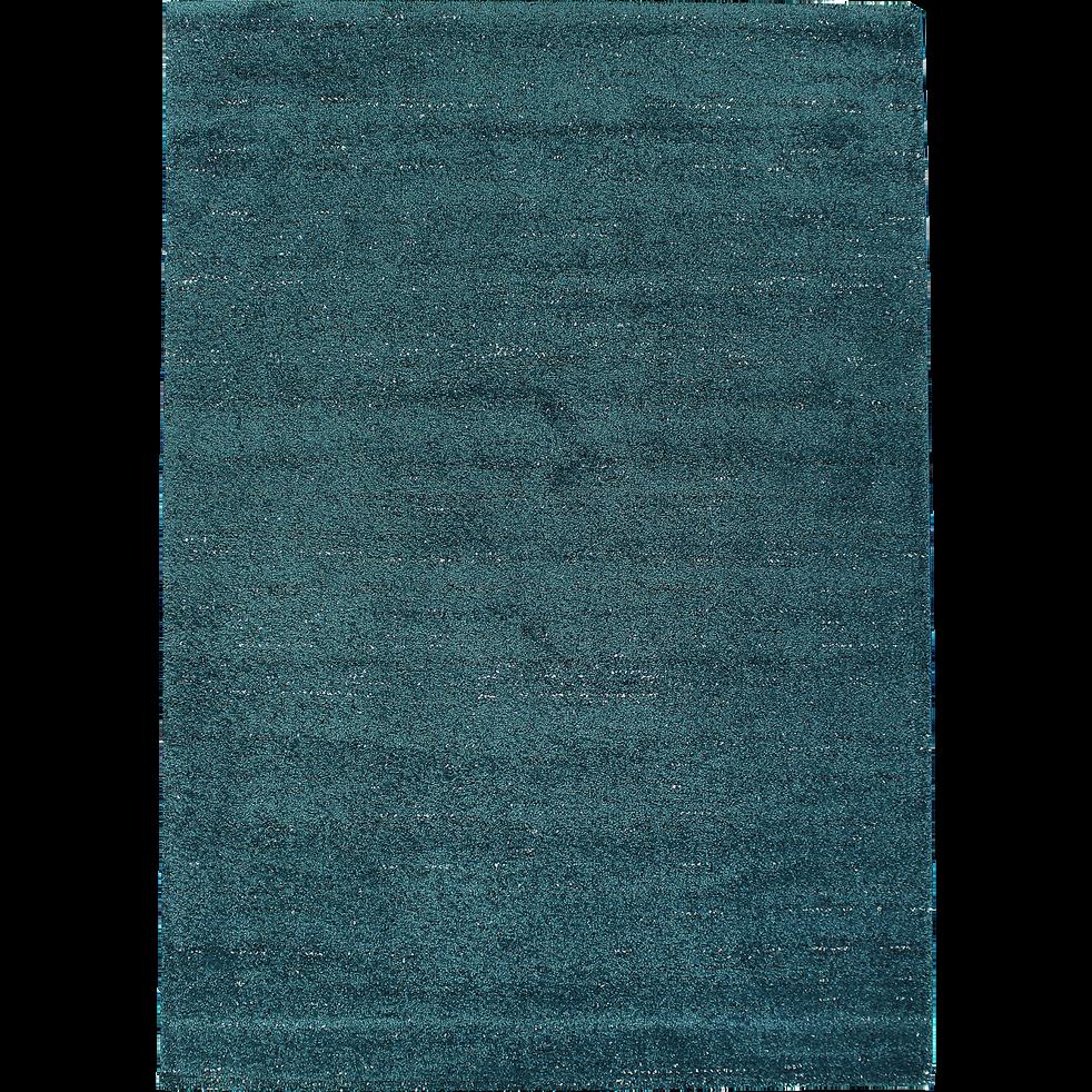 Tapis Bleu Canard Mouchete 120x170cm Stessy 120x170 Cm Alinea