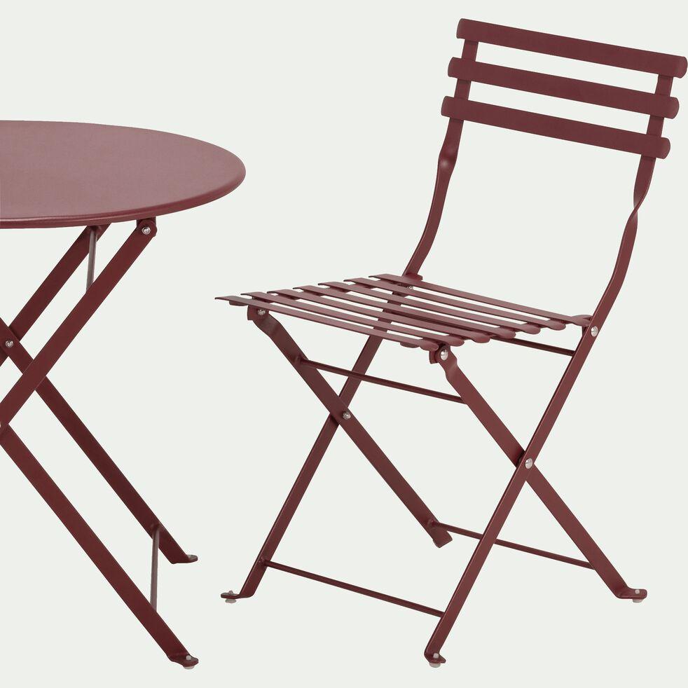 Table de jardin enfant d50xh48cm Rouge sumac-CERVIONE
