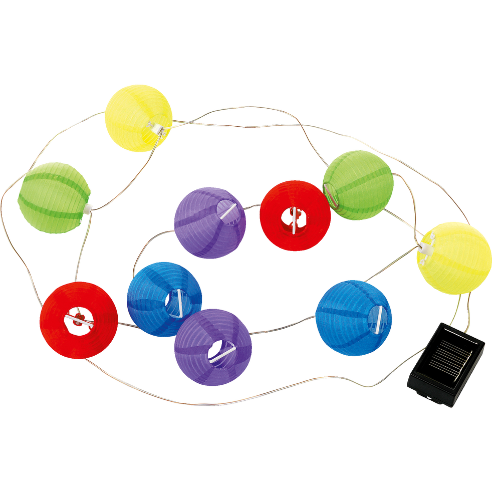 guirlande solaire d 39 ext rieur 10 lampions multicolores l1 25m new party d co lumineuse. Black Bedroom Furniture Sets. Home Design Ideas