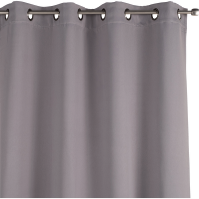 Rideau occultant à oeillets gris restanque 140x250cm-GORDES