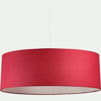 Suspension cylindrique en tissu rouge arbouse D75cm-MISTRAL