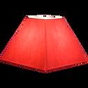 Abat-jour carré trapèze en tissu rouge (plusieurs tailles)-COLORAMA