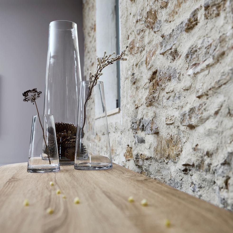 Vase en verre transparent H30cm-GALICE