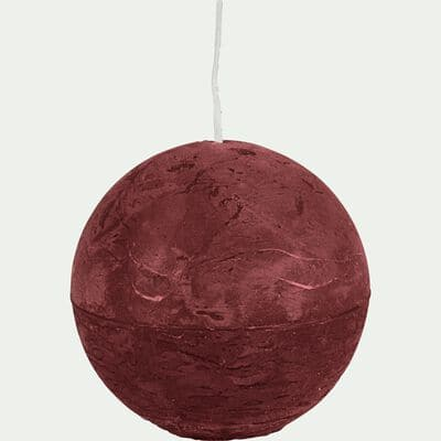 Bougie ronde rouge sumac D8cm-BEJAIA