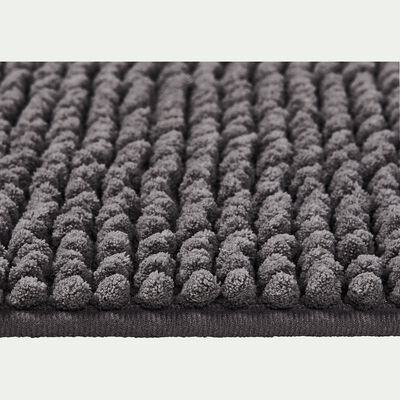 Tapis de bain polyester 120x50cm gris restanque-PICUS