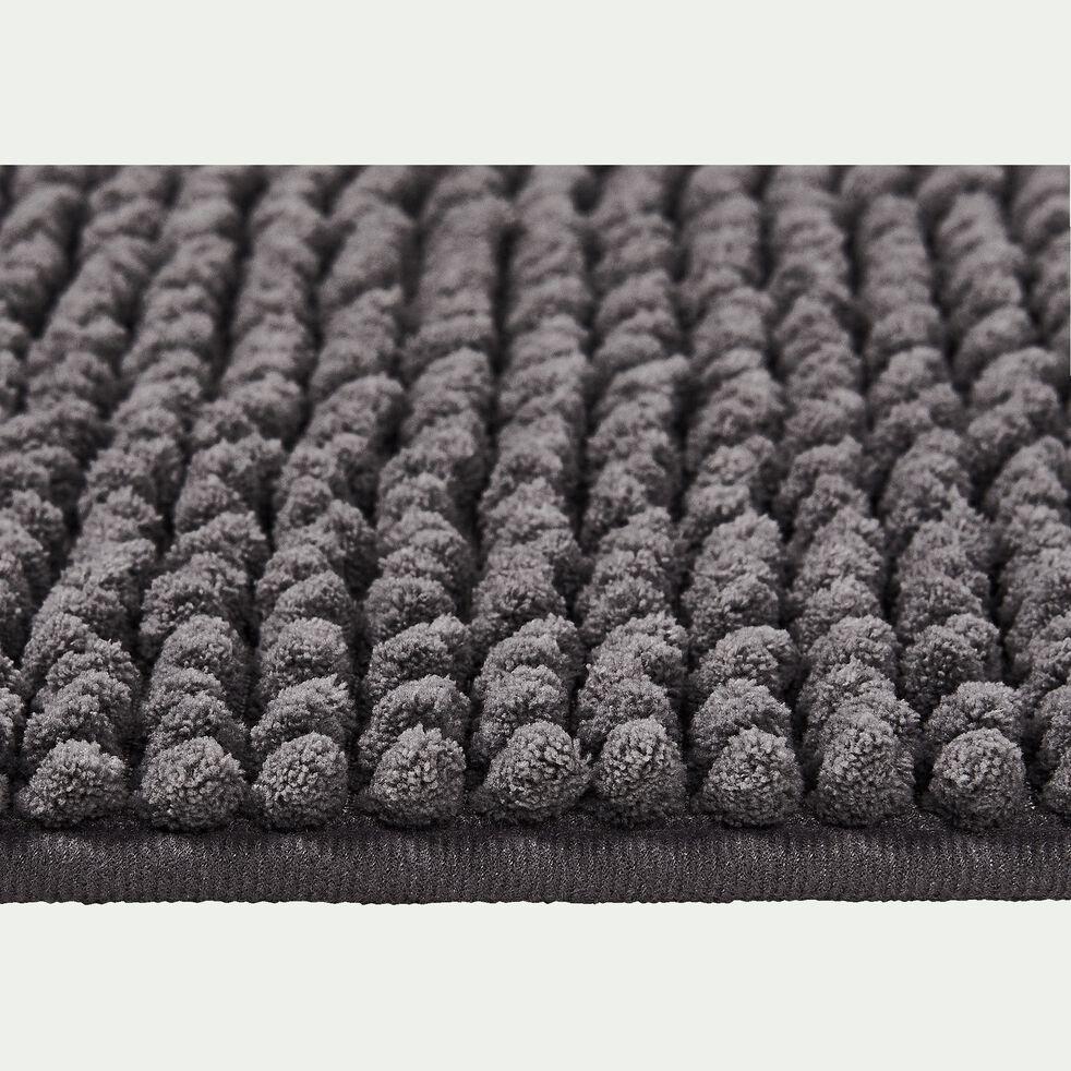 Tapis de bain chenille en polyester - gris restanque 50x120cm-PICUS