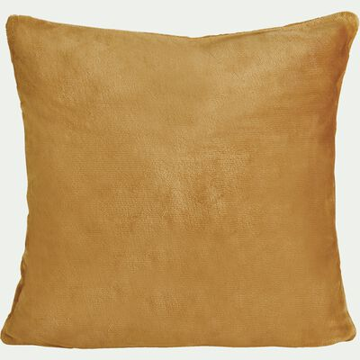 Housse de coussin effet polaire en polyester - beige nèfle 40x40cm-ROBIN