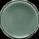 Assiette à dessert en faïence bleue D20cm-LANKA