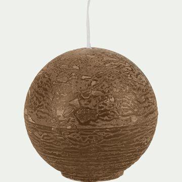 Bougie ronde - brun albe D6cm-BEJAIA