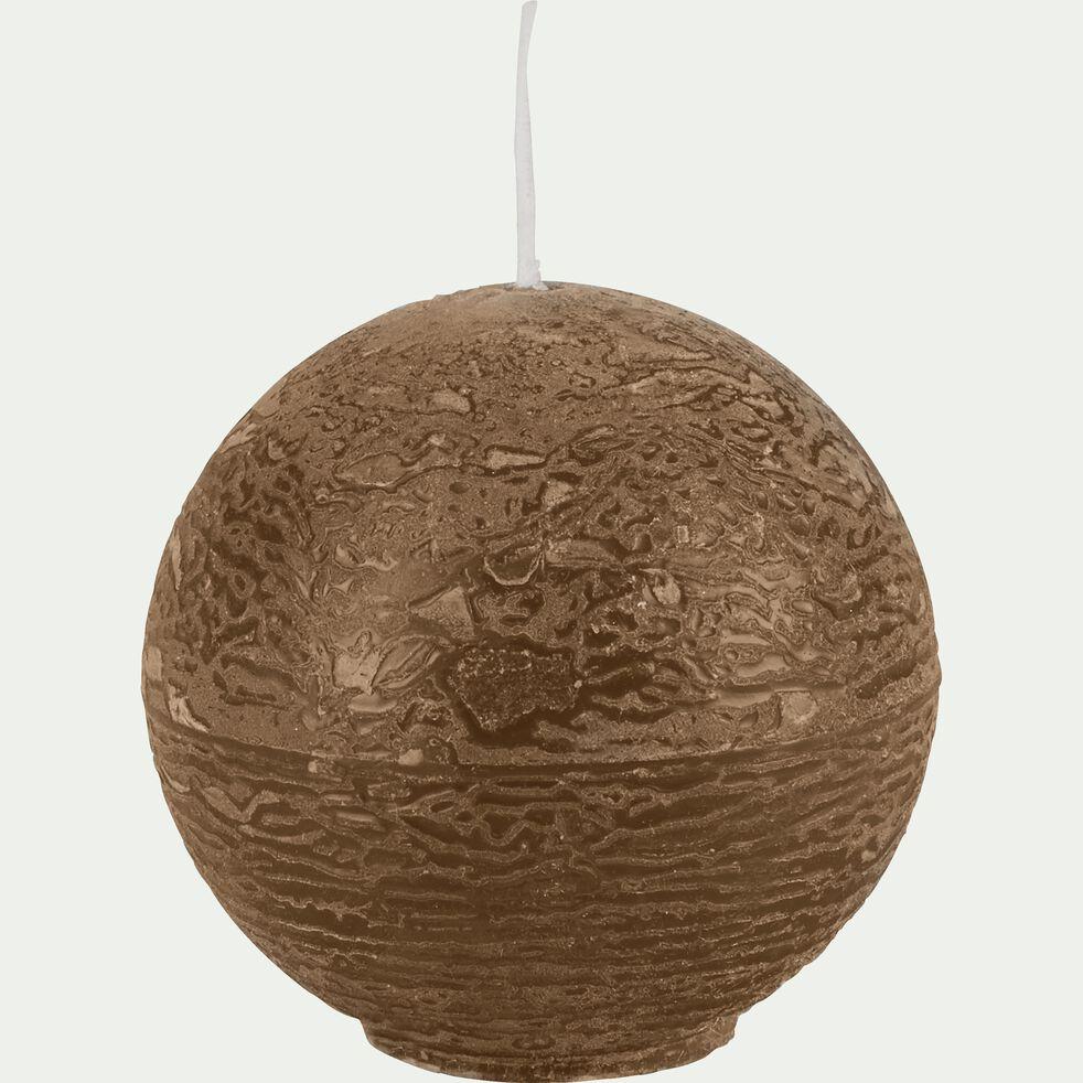 Bougie ronde brun albe D6 cm-BEJAIA