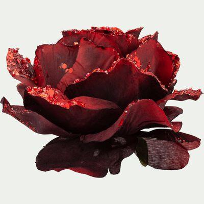 Rose à pince rouge D14cm-MADDALENA