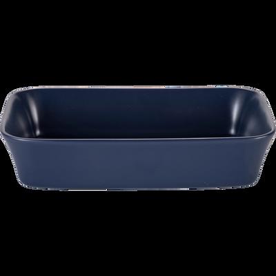 Plat à four rectangulaire en grès bleu myrte 32x20cm-ALVARA
