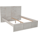 Tête de lit blanche en pin brossé pour lit L140cm et L160cm-JALOUSIE