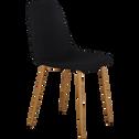 Chaise en tissu noir-LISON