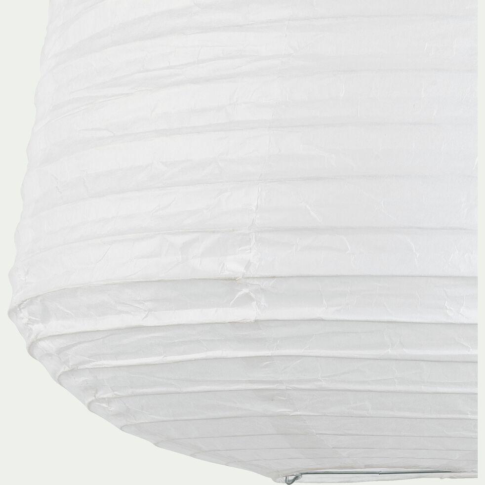 Suspension ovale en papier - blanc D40xH50cm-ALOU