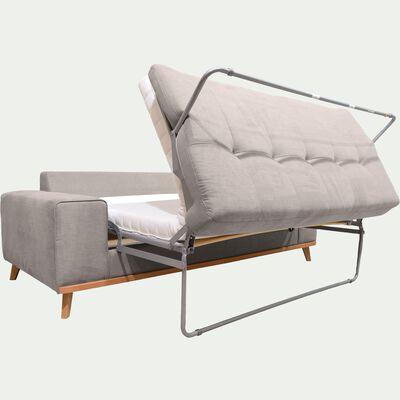 Canapé 3 places convertible en tissu - beige argile-PICABIA