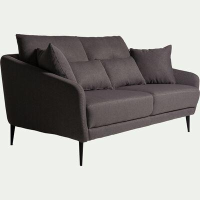 Canapé 2 places fixe en tissu gris restanque-DOME