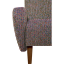 Fauteuil rétro en tissu multicolore-BEAN