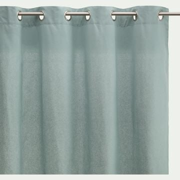 Rideau à œillets en coton - bleu calaluna 140x250cm-CALANQUES