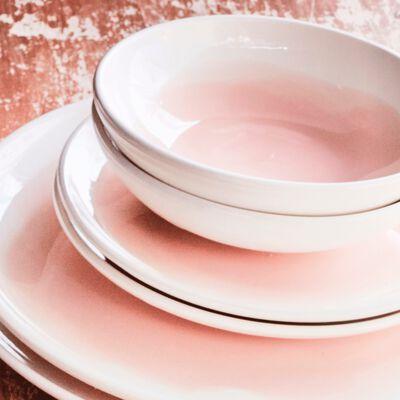 Gamme de vaisselle en faïence rose grège-SANARY