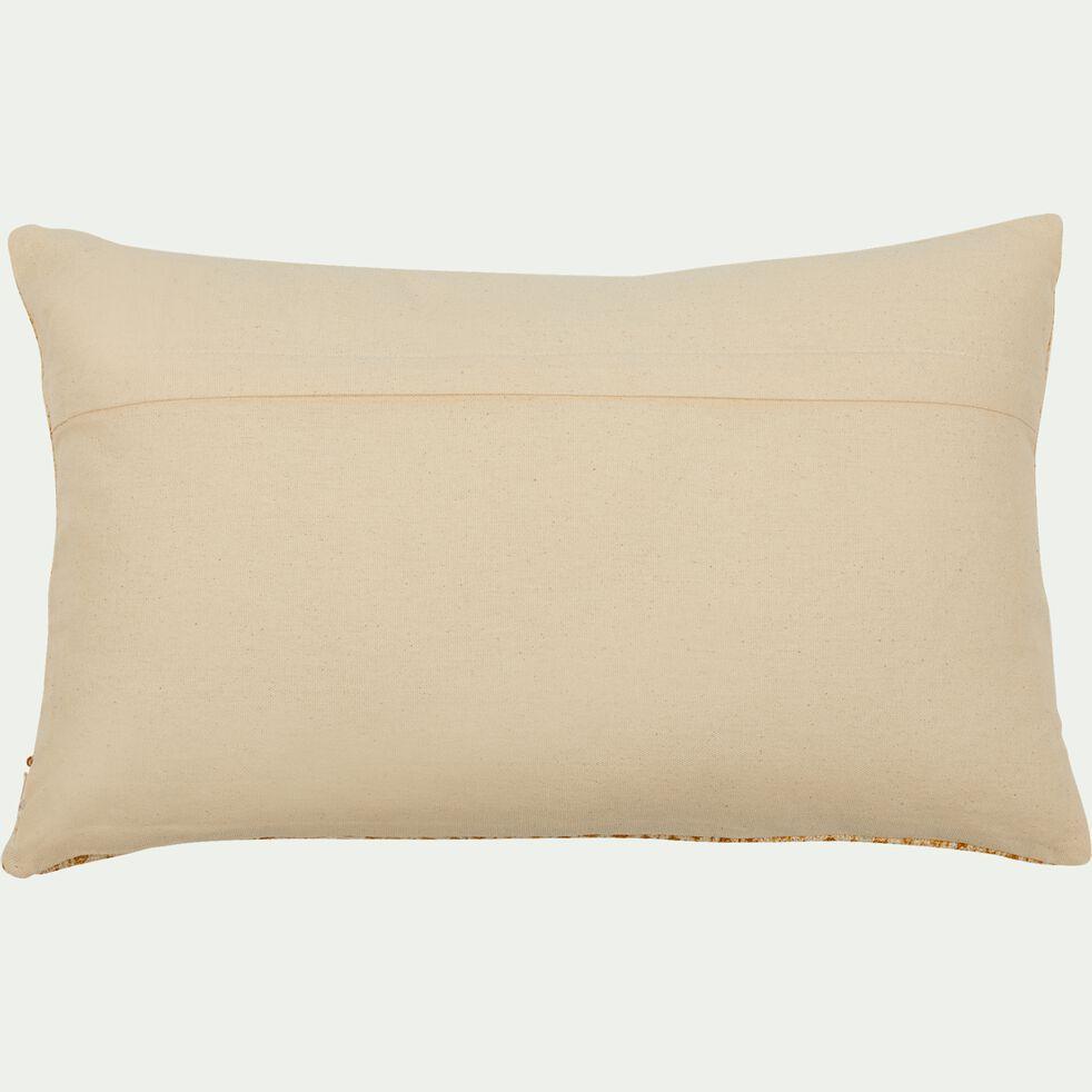 Coussin ethnique en coton - beige nèfle 30x50cm-BARRAS