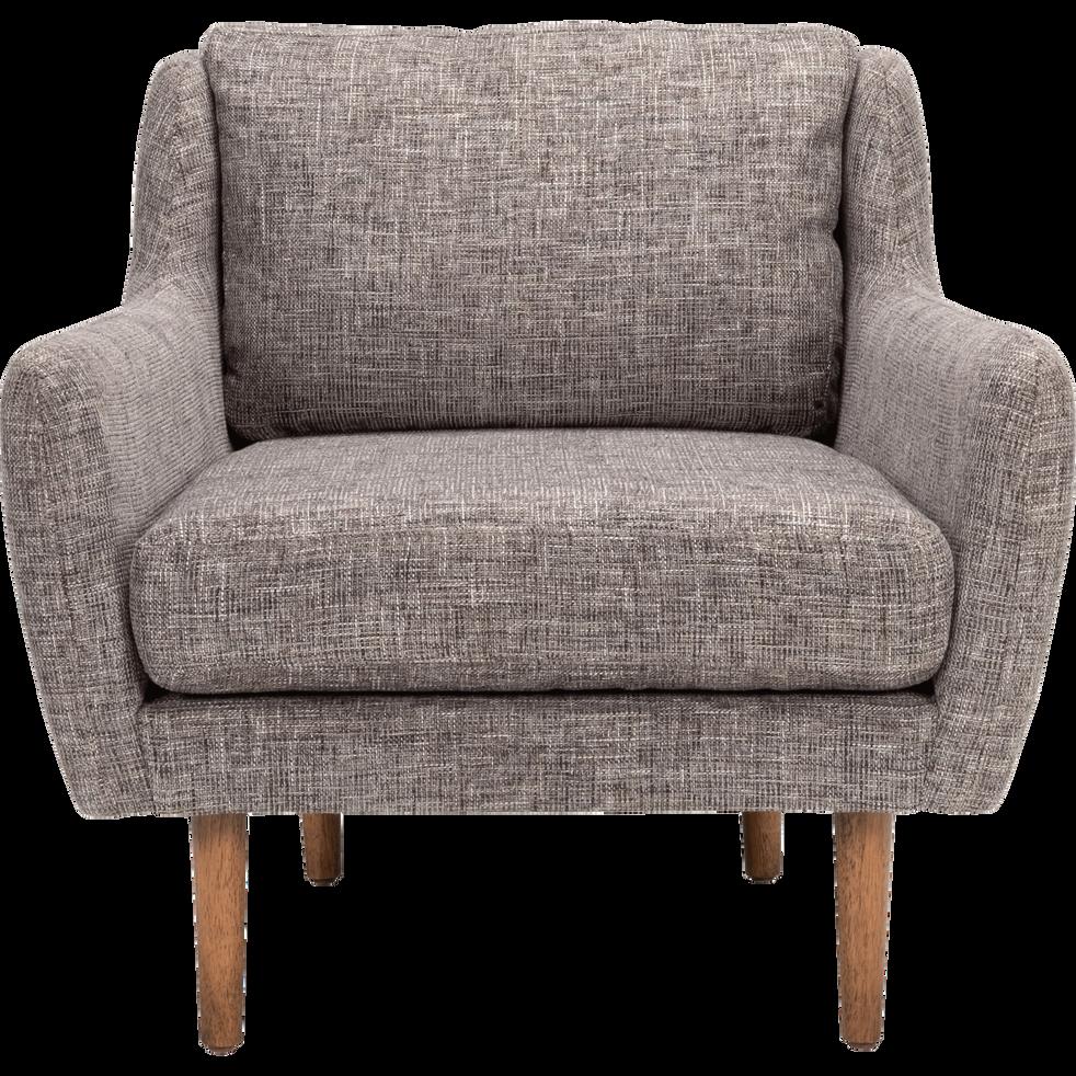 fauteuil en tissu gris restanque roucaous fauteuils et poufs alinea. Black Bedroom Furniture Sets. Home Design Ideas