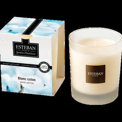 Bougie parfumée senteur blanc coton-ESTEBAN