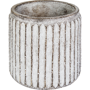 Cache-pot en fibre de ciment H12xD12.5 cm-Sienne