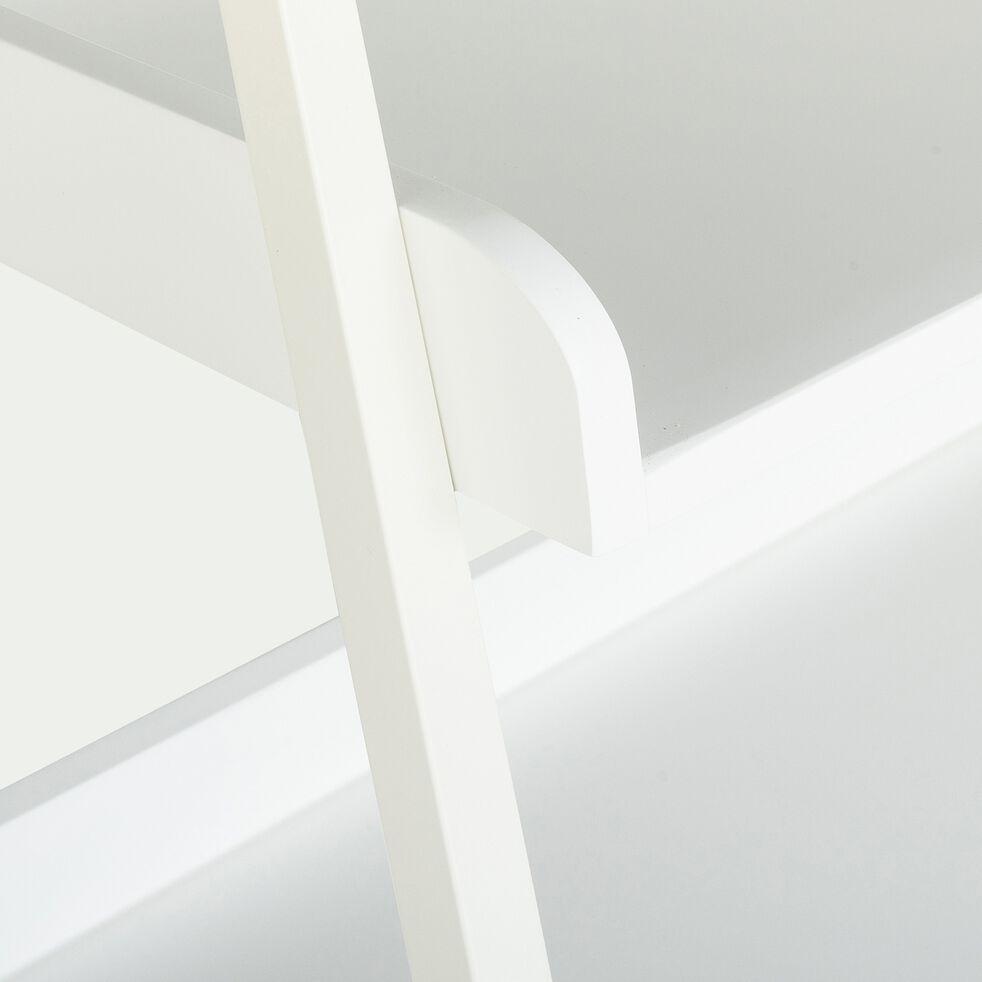 Etagère 5 tablettes en bois et métal blanc L80cm-ESTANIER
