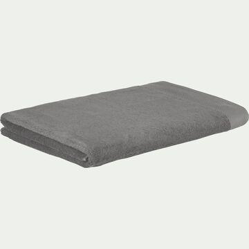 Drap de bain en coton peigné - gris restanque 100x150cm-AZUR