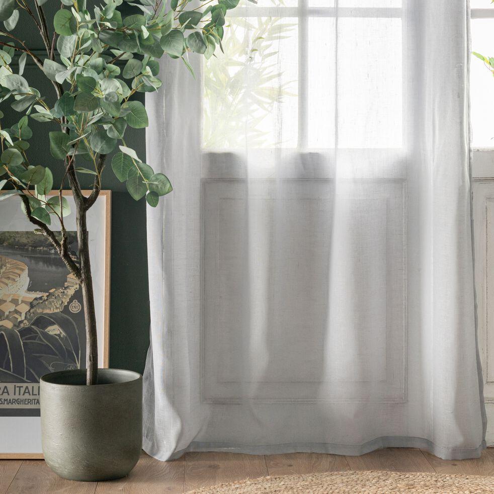 Voilage à œillets en polyester - gris borie 135x300cm-DUNE