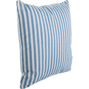 Coussin carré 40x40cm rayures blanc et bleu pour enfant-ZAC
