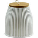 Pot en céramique et couvercle en bois-BUO