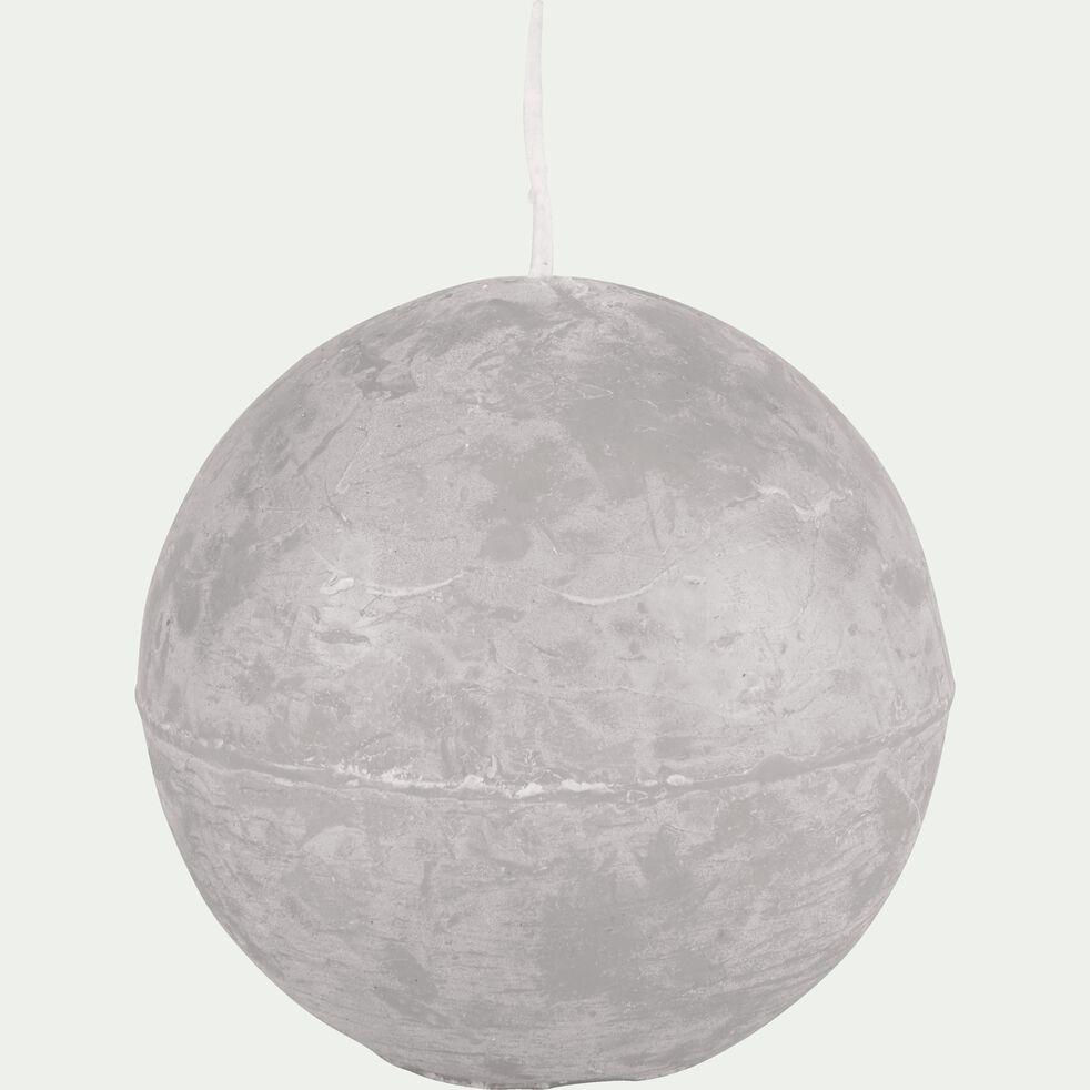 Bougie ronde gris boire D8cm-BEJAIA