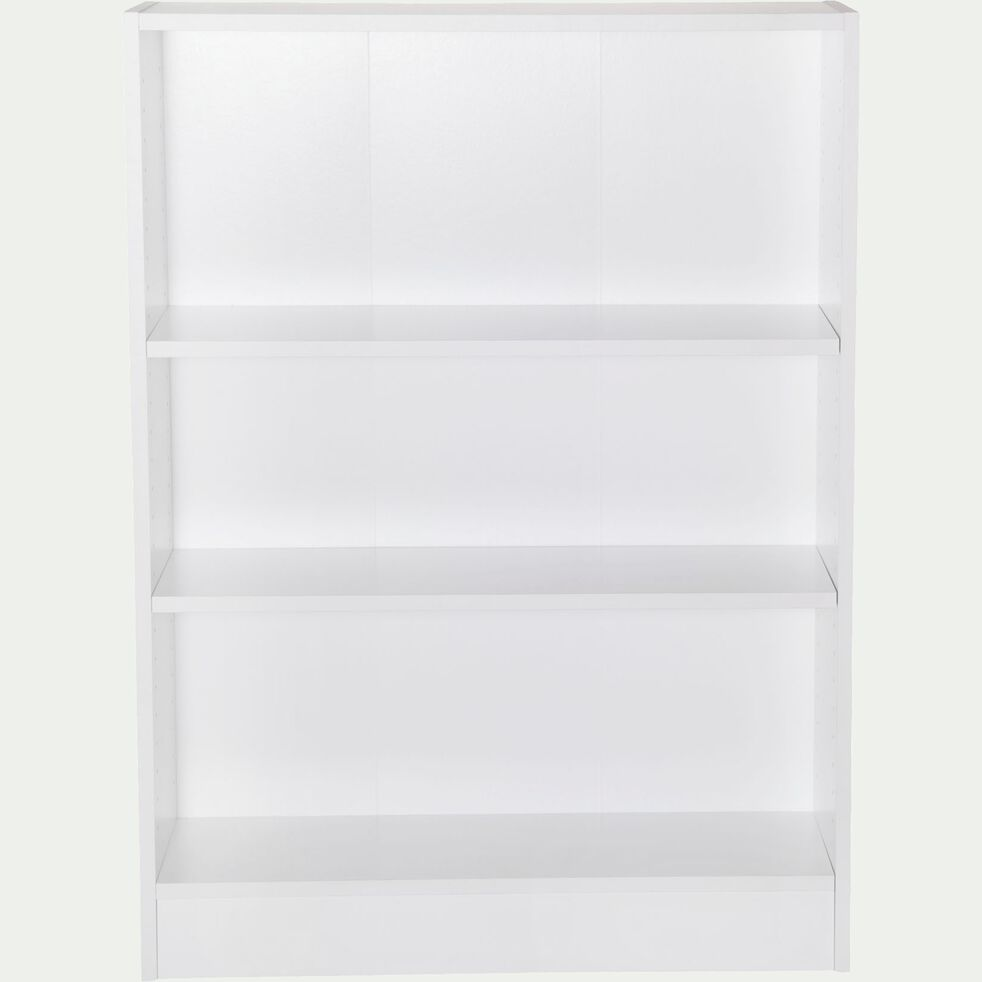 Bibliothèque 3 tablettes - blanc H107cm-Biala