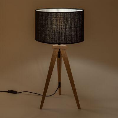 Lampe à poser en bois - noir-TRIX