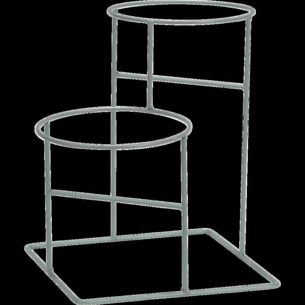 Porte-plante 2 supports vert pour pot D15cm-MEIA