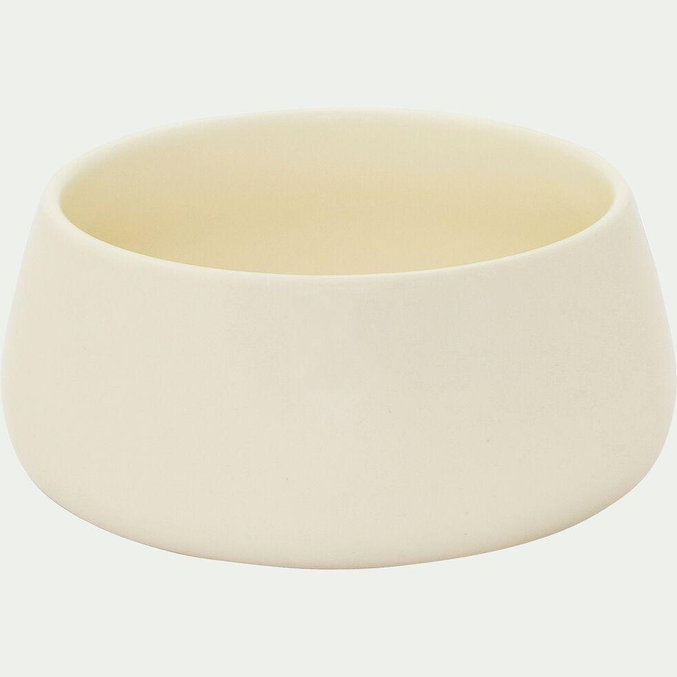 Coupelle en porcelaine beige mat D12.5cm-OSAKA