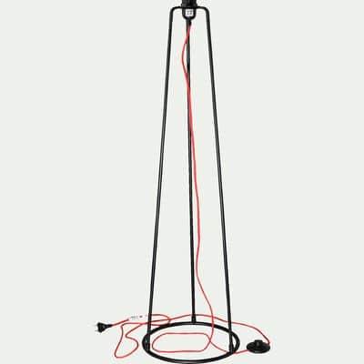 Pied de lampadaire graphique en métal noir H112cm-BLANDINE